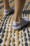 Walking on reflexology path Stock Images