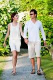 Walking through the resort Royalty Free Stock Image