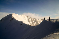 Walking on the ridge Stock Photo