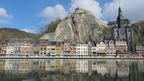 The picturesque city of Dinant, Belgium stock image