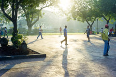 Walking in Rizal Park Stock Photography