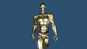Walking robot. 3D CG rendering of a walking robot stock illustration
