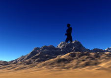 Walking On The Rocks. This is a man walking on the rocks Royalty Free Stock Photography