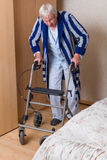 Walking with a rollator Stock Photos