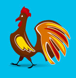 Walking rooster Royalty Free Stock Images