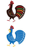 Walking rooster. Vector illustration of a rooster Royalty Free Stock Photography