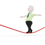 Walking on rope. Stock Image