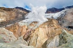 Inside the crater of the Mutnovsky volcano Royalty Free Stock Photography