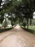 Walking route of the Villa Borghese Gardens Park . Rome Stock Images
