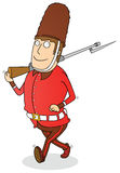 Walking royal guard Royalty Free Stock Image