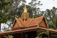 The Royal Independence Gardens in Siem Reap, Cambodia stock photos