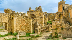 Walking among the ruins Royalty Free Stock Images