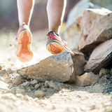 Walking or running legs, adventure and exercising Royalty Free Stock Photo