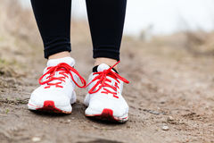 Walking or running legs sport shoes Royalty Free Stock Photography