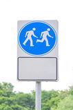 Walking and running sign alert in public park Stock Image