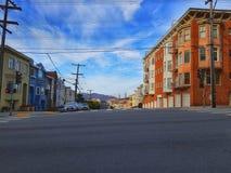 Walking in San Francisco stock image