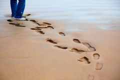 Walking on the sand Royalty Free Stock Images