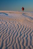 Walking on the sand dune Royalty Free Stock Images
