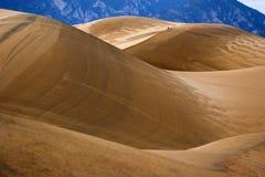 Walking in sand dunes Royalty Free Stock Photo