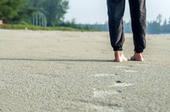 Walking on the sand Royalty Free Stock Photography