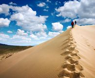 Walking on sands Royalty Free Stock Photo