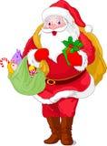 Walking  Santa Claus Stock Photos