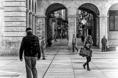 Walking in the Santander city Stock Photography