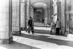 Walking in the Santander city Stock Image