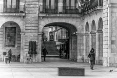 Walking in the Santander city Royalty Free Stock Photo