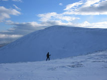 Walking in the Scottish highlands. In winter Stock Photos