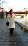 Walking by the Seine embankment Royalty Free Stock Photography