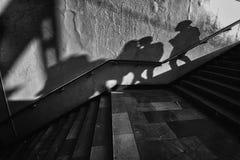 Walking shadow Royalty Free Stock Photo