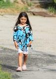Walking shaming little girl Stock Images