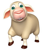 Walking Sheep cartoon character Stock Image