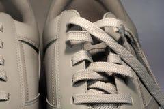 Walking shoes. Half shot shoes stock photography