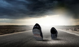 Walking shoes Stock Images