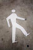 Walking sign on road. Walking sign on rasphalt road Stock Photography