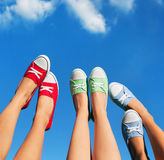 Walking on the sky Royalty Free Stock Photography