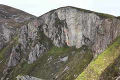 Walking on slieve league cliffs. Royalty Free Stock Images
