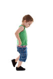 Walking small boy Stock Photos