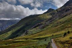 Walking in Snowdonia Stock Image