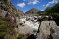 Walking in Snowdonia Stock Photography
