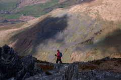 Walking the Snowdonia National Park Royalty Free Stock Image