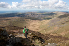 Walking the Snowdonia National Park Royalty Free Stock Photo
