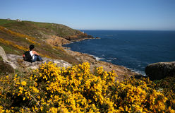 Walking Southwest Coast path. v3 Stock Images