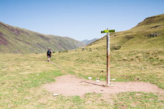 Walking in the spanish pyrenees Stock Image