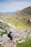 Walking in the spanish pyrenees Stock Images