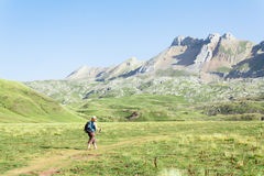 Walking in the spanish pyrenees Royalty Free Stock Photography