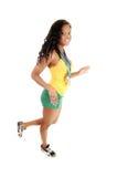 Walking sporty girl. Stock Photo