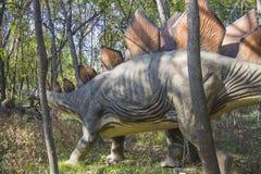 Walking Stegosaurus Royalty Free Stock Photography